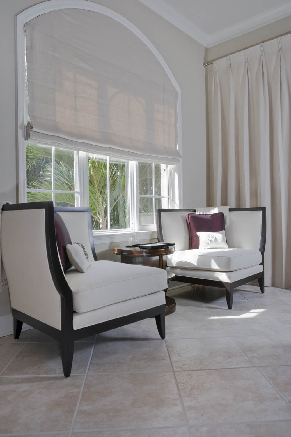 Arched Window Treatments Fabric Shades On Windows