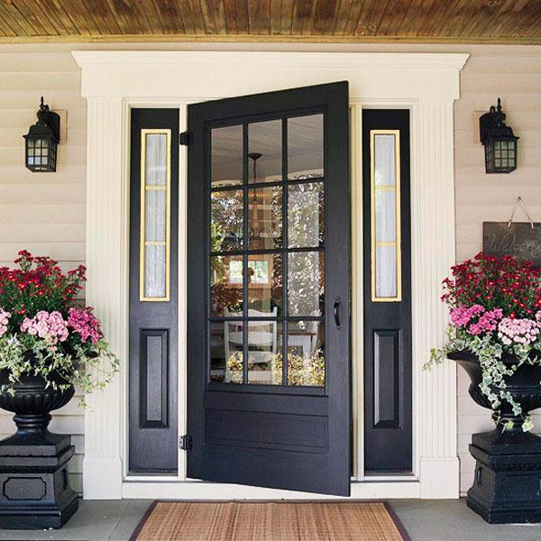 Decorative Touches Personalize the Front Entrance