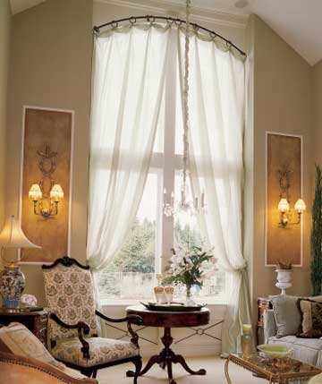 Curtains and Drapery Treatments for the Arched Window